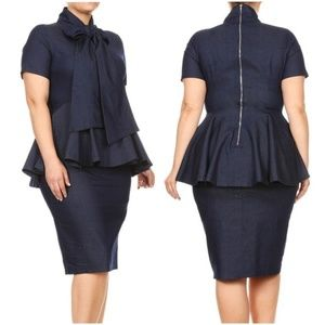 Women's Plus Size Denim Dress